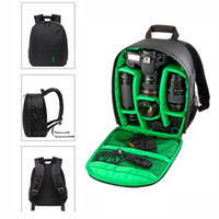 Wholesale Tripod For Small Digital Camera - 2017 Digital DSLR Camera Bag Waterproof Photo backpack Small Travel Camera Video Bag For Canon Nikon Sony With Rain Cover
