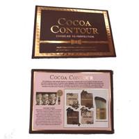 Wholesale contour palettes for sale - Group buy Hot sale Makeup COCOA Contour Highlighters Palette Nude Color Face Concealer Chocolate Eyeshadow with Contour Buki Brush