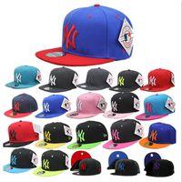 Wholesale Snapback Ball Top - 24 colors NY men women Basketball cap snapback Hip hop sytle snapback Adjustable top New York hat sport topi High-quality unisex Bboy caps