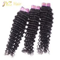 JYZ Great Quality Brazilian Deep Wave Virgin Hair 100% Malásia Cabelo Humano Weave 3 Bundle Cabelo Peruvian Virgen Barato