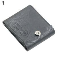 Wholesale Clasp Clutch Wholesale - Wholesale- Men's Magnetic Clasp Faux Leather Bifold Card Holder Pockets Slim Purse Wallet 1QBX 4OOA