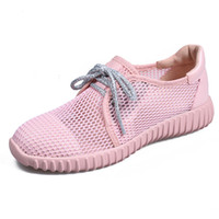 Wholesale Cool Rubber Shoes For Girls - hot sale Single shoes for women's shoes air mesh Summer Sexy Women Single Sandals pink Black white sports shoes for girls cool Slippers