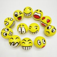 Wholesale Hand Wrist Exercises - Emoji Faces Squeeze Stress Ball Hand Wrist Finger Exercise Stress Relief Therapy - Assorted Styles New Christmas party gifts free shipping