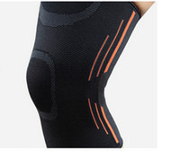 Wholesale Wholesale Knee Braces - Elastic Sports Leg Knee Support Brace Wrap Protector Knee Pads Protector Safety Kneepad Sleeve Cap Patella Guard Volleyball Knee