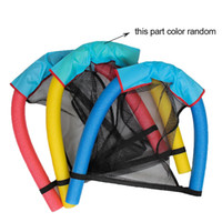 Wholesale Pool Chair Floats - 1pcs noodle pool floating chair 6.5*150cm Swimming Pool Seats blue pool amazing floating bed chair noodle chair