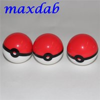 Wholesale pokeball wax jars for sale - Group buy Pokeball silicon container Silicone Jar Dab Wax Containers For Wax Silicone Jars Concentrate Case