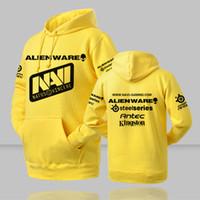 Wholesale dota hoodie - Wholesale- 2016 Men's Navi Dota Hoodies Dota 2 Natus Vincere Sweatshirts with Hoody Man Winter Pullover Fleece Tracksuits Brand Clothing