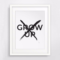 Wholesale Life Signs - Don't Grow Up Print Canvas Poste Quote Wall Art, Nursery Boy Gift Room Sign, Nursery Art,Boys Kids Room Decor, Frame Not included