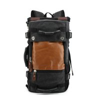 Wholesale Best Backpacks For Travel - large double shoulder travel bags canvas backpack luggage bags best travel bags for men wholesale and retail