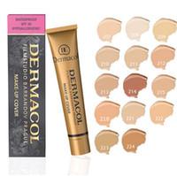 Wholesale Makeup Palette Mix - Dermacol Concealer Foundation Make Up Cover 13 colors Primer DC Concealer Base Professional Face Dermacol Makeup Contour Palette Makeup Base