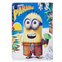 Wholesale Despicable For Ipad - Cartoon Moive Despicable ME 3 Minions Folio Leather Case Stand for ipad pro9.7 Air Air2 ipad 2 3 4 mini 1 mini 2 mini 3