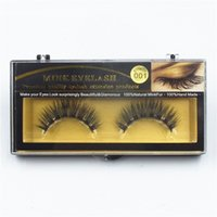 Wholesale Thick Black Lashes - NEW Mink False Eyelashes Handmade Natural Long Thick Mink Fur Eyelashes Soft Fake Eye Lash extensions Black Terrier Full Strip Lashes