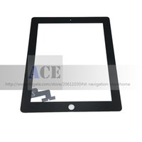 Wholesale Ipad Glass Tool - Touch Screen Glass Panel with Digitizer for iPad 2 ipad 3 and ipad 4 Black and White with Tools Free Shipping