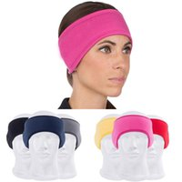 Wholesale Wholesale Sport Ear Warmer Headbands - Wholesale- Women Outdoor Sports Running Cycling Yoga Gym Stretch Sweatband Headband Hair Band Ear Muff Warm