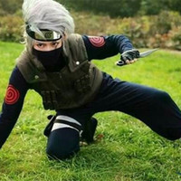 Wholesale naruto kakashi hatake cosplay costume for sale - Group buy Hatake Kakashi cosplay costumes Naruto Shippuden Japanese anime Naruto clothing halloween costumes Masquerade costumes three piece