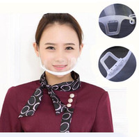 Wholesale Hotel Catering - New 10pcs Lot catering barbecue masks transparent mask anti fog Hygiene catering Food Hotel plastic kitchen restaurant special