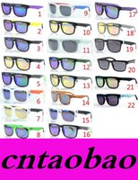 Wholesale Coat Colorful Men - MOQ=50pcs Factory Price Wholesale new fashion KEN BLOCK HELM colorful reflective coating sunglasses Cycling Sports dazzling Sunglasses
