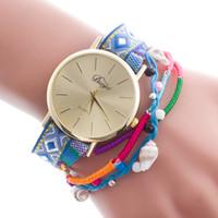 Wholesale Ribbon Spots - Geneva Ms Hot style to recommend ms bracelet watch Ms rivets bracelet watch bracelet around South Korea velvet table Spot wholesale