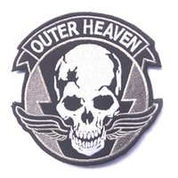 Patches outer fabric - US outer heaven Badge GRIM REAPERS CANCELED Embroidery Badges Fabric Military Morale Patches For Clothing Appliques Decorative Patches