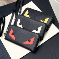 Wholesale cute little red wallet - Little monster accordion wallet in genuine stingray leather Most popular cute monster purse