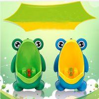 erkek kurbağaları toptan satış-Çocuk PP Kurbağa Çocuklar Stand Dikey Pisuvar Duvara Monte İdrar Tencere Kanalı Çocuk Bebek Boys Pisuvar Yeni Promosyon Duvar Montajlı Eğitim Tuvalet