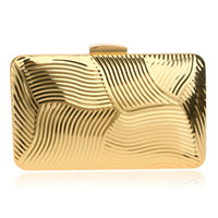 Wholesale Gold Lace Clutches Evening Bags - Wholesale-NEW Tin vintage European style clutch women evening bags handbags clutches purse evening bag black gold silver color