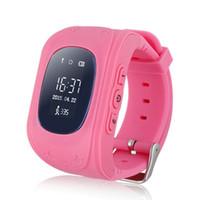 rastreador de telefones celulares venda por atacado-q50 smart watch para crianças gps tracker para crianças wearable tela lcd com slot para cartão sim celular relógio do bebê