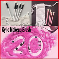 Wholesale White Collection Wholesale - Kylie Brush Set Kylie Limited Edition Holiday Collection brushes set 5pcs Kylie Cosmetic Makeup brush I WANT IT ALL 20th Birthday 4pcs brush