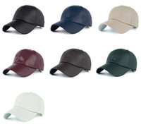260552d9a01 HIP HOP DIY Blank PU Hats Adjustable Light version of the classic tunnel PU  baseball cap visor cap B357