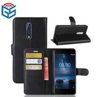 изделия из горячей кожи оптовых-Для Nokia 8/8 Sirocco / 9 горячие продать продукты Оптовая премиум PU флип бумажник кожаный чехол с карты держатель