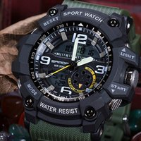 Wholesale Gold Pins Electronic - 2017 Sanda Military Casual Men's Waterproof Best Brand Luxury Watch Camping Immersed Relogio masculino Sports Digital LED Electronic Watch