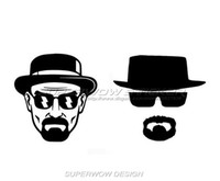 Wholesale Carved Doors - Heisenberg car stickers dead truck stickers Reflective film carved car stickers personalized Waterproof COOL hat Glasses mustache