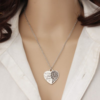 """Wholesale Wholesale Mothers Day Gifts Cheap - Hollow Out Charm Cheap Fashion Jewelry """"Mother And Daughter Forever Love"""" Necklaces Charm Heart Family Gift Pendant Necklace For Women"""
