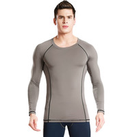Men speed fitness - New men s fitness suits outdoor sports running speed dry breathable long sleeved stretch men