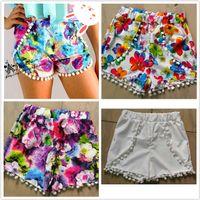 Wholesale Hawaii Beach Skirt - 2017 Fashion Bohemian Printing Hawaii Wind Summer New Women's Small Ball Floral Loose Waist Shorts Fashion Beach Pants