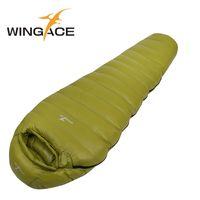Wholesale ultralight sleeping bag down - Wholesale- Filling 400G 600G 800G 1000G 1200G outdoor ultralight sleeping bags camping splicing mummy goose down saco de dormir uyku tulumu