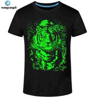 kurze hülse personalisiert t groihandel-Großhandels- 2017 Sommer neue 3D T-Shirt Männer Freizeit fluoreszierende personalisierte Kurzhülse leuchtende T-Shirt Tops Männer T-Shirt 3XL Kleidung