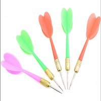 Wholesale Wholesale Steel Tip Darts - Wholesale-100pcs Free Shipping Plastic Wing Darts Needle Kids Tone Dart Steel Brass Throwing Tip Toy Children and adult Toys