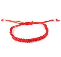 pulseras de cadena fina al por mayor-Thin Red Thread String Rope Charm Bracelets For Women Fashion Nueva Venta Top Hot Summer Style Link Chain Jewelry HS004