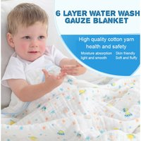 Wholesale Gauze Blankets - New Born Baby six layers of cotton gauze air conditioning blanket