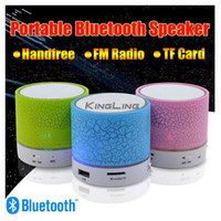 Wholesale Usb Speakers Wholesalers - Colorful LED Speaker Bluetooth Mini Speakers Portable Subwoofer Support FM radio Handfree AUX USB Port TF Card Speaker
