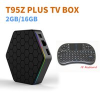 Wholesale Led Tv Tuners - T95Z Plus Android 6.0 Smart TV Box S912 Octa Core 2G ram 16G rom 2.4G 5G Dual Band WIFI Gigabit LAN LED Display with i8 Remote keyboard