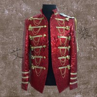 Wholesale medieval men - Wholesale- Royal Mens Period Costume Medieval Renaissance Stage Performance Charming Fairy Tale William Colonial Stage Costumes