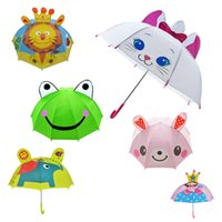 Wholesale Ear Umbrellas - Hot Lovely Cartoon Ear Umbrella Creative Long Handle 3D Umbrellas Sunny Rainy Bumbershoot Frog Rabbit Princess For children umbrella IB259