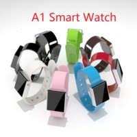 Wholesale Hot Pink Android - A1 Smart Watch 8 Colors Hot Sell Bluetooth Smart watches Wrist Low Price Smart Clock With Camera for Android phone