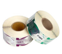 marcas de uñas de acrílico al por mayor-1Roll / lot Alta calidad Marca Nail Form Producto Nail Art Tip Extensiones Formas para Acrílico UV Gel