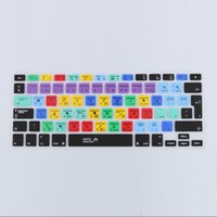 Wholesale Macbook Keyboard Cover European - US EU Version European Silicone Keyboard Cover for Macbook Air Pro 13 15 17 inch Design Shortcut Skin Laptop Accessories Covers
