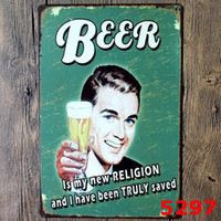 Tin Poster Drink Bar à bière Vintage Craft Panneau d'étain Rétro peinture en métal Affiche Bar Pub Signs Wall Art Sticker Decoration Room Home 2017
