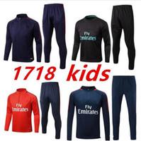 Wholesale Boys Brown Jacket - kids boys chelsea soccer jacket 2017 2018 milan jackets kits RONALDO HIGUAIN DYBALA HAZARD tracksuit jacket Sweatshirt free shipping