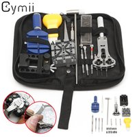 Wholesale Watchmaker Tool Set Kit - Wholesale-Professional 20 Pcs Watch Repair Tools Kit Set With Case Watch Tools Apply To General Problem Of Watch For Watchmaker